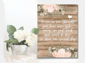 Wedding Forever In Our Thoughts, Lost Ones  -  Metal Wall Sign